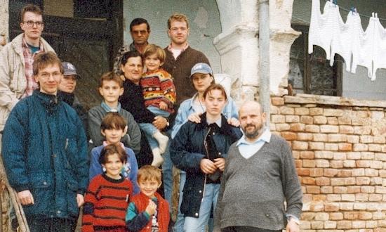 April 1997: Siegfried Siegert, Uli Iberer, Brigitte Wagner, Peter Wagner, Cornelia Winkler (mit Stationen und Begegnungen in Zagreb, Slavonsik Brod, Odzak)