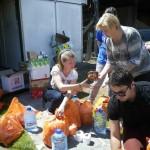Überschwemmung 2014 - Freiwilligengruppen helfen