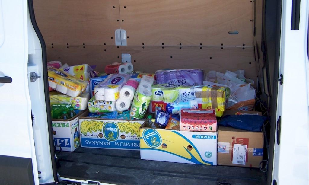 Hilfsfahrt Juni 2014 - Lebensmittel, Hygieneartikel