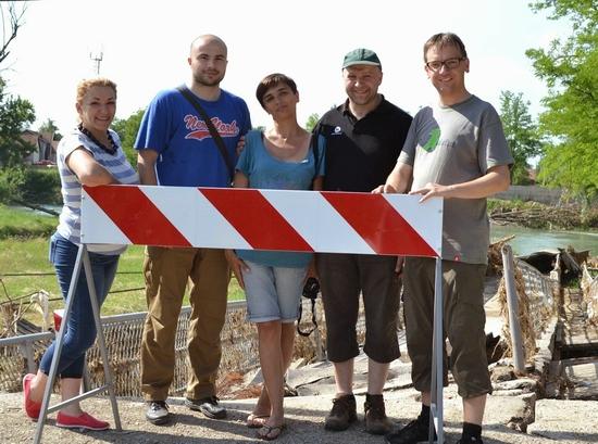 Juni 2014: Marija Buganik, Spomenko Hricak (Caritas Banja Luka), Milena Sperber, Christof Graf, Uli Iberer (mit Stationen und Begegnungen in Banja Luka)